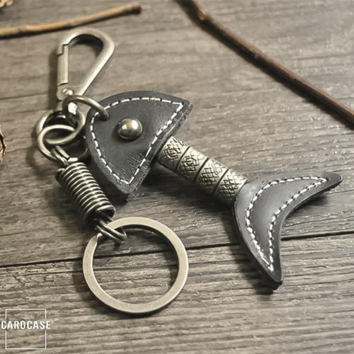 Leather keychain by CaroCase black