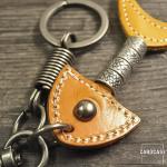 Leather keychain by CaroCase dark brown