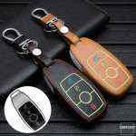 Leather car key case for Mercedes-Benz - key type M9