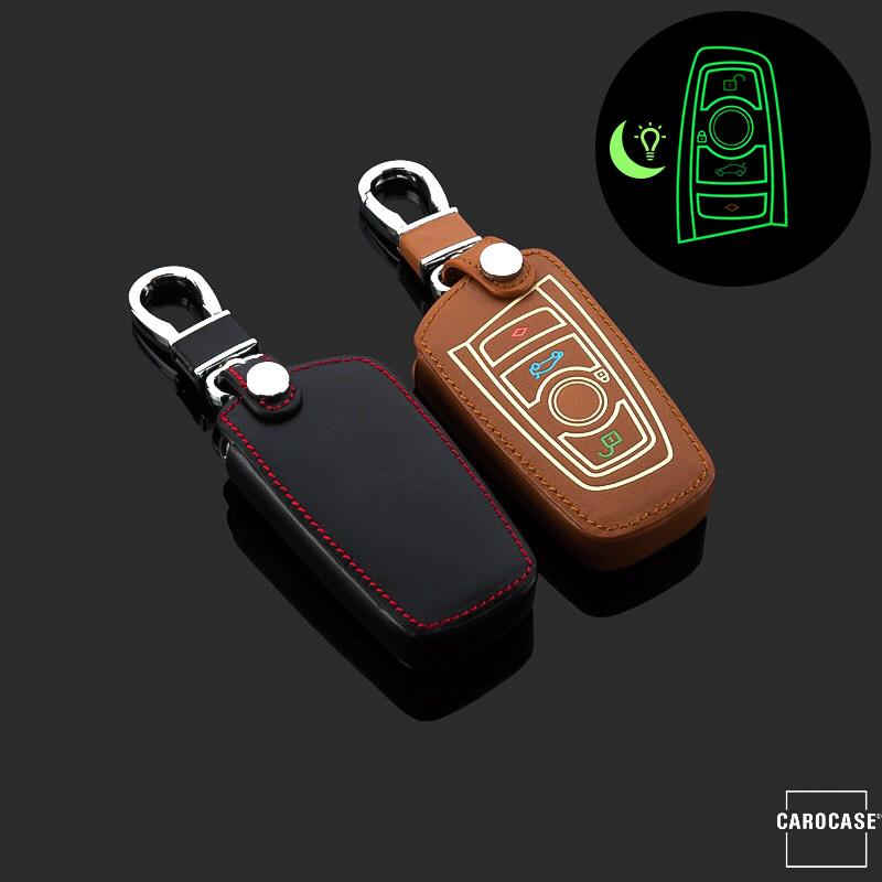 Leather Car Key Case For Bmw Luminous Key Type B4 B5 Carocase En 11 95
