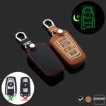Luminous glow leather key case/cover for BMW car keys black