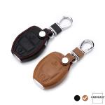 Coque / Housse Clé télécommande en cuir Voiture incl. mousquetons pour Mercedes-Benz brun LEK1-M6-2
