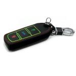 Luminous glow leather key case/cover for Volkswagen car keys black