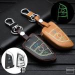 Lumineux coque/housse de clé en cuir pour BMW...