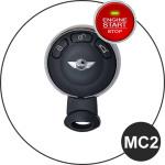 Leder Schlüssel Cover passend für MINI Schlüssel schwarz LEUCHTEND! LEK2-MC2-1