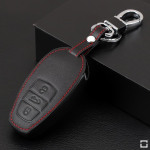 Leather key case/cover incl. keychain for Volkswagen...