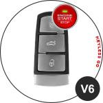 Leder Schlüssel Cover passend für Volkswagen Schlüssel V6 braun