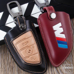 Leather car key case for BMW M-Power - keyt ype B6/B7