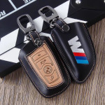 Leather car key case for BMW M-Power - keyt ype B4/B5