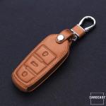 Leder Schlüssel Cover passend für Volkswagen Schlüssel V5