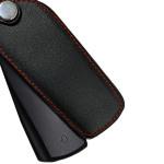 Leder Schlüssel Cover passend für Volkswagen Schlüssel V5 schwarz