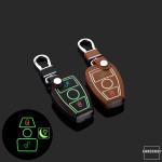 Leder Schlüssel Cover passend für Mercedes-Benz...