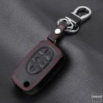 Housse de clé en cuir pour Audi - clé type AU0 schwarz