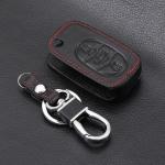 Leder Schlüssel Cover passend für Audi Schlüssel AX0 schwarz