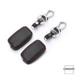 Leder Schlüssel Cover passend für Audi Schlüssel AX0 braun