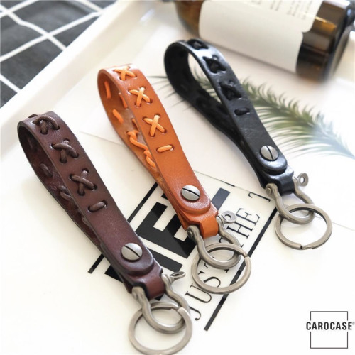 Bracelet porte-clés en cuir