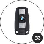 BLACK-ROSE Leder Schlüssel Cover für BMW Schlüssel  LEK4-B3
