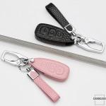 BLACK-ROSE Leder Schlüssel Cover für Ford Schlüssel rosa LEK4-F5