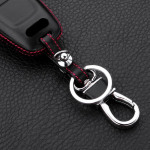 Schlüssel Cover Leder, für Audi Schlüsseltyp AU6 black