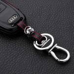 Leder Hartschalen Cover passend für Audi Schlüssel schwarz LEK48-AX4-1