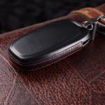Housse de clé en cuir pour Audi, type de clé AU4, noir