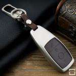 Alu Hartschalen Schlüssel Case passend für Mercedes-Benz Autoschlüssel  HEK2-M9