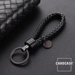 Schlüsselanhänger Lederband inkl. Schlüsselring anthrazit/schwarz SAR7-51