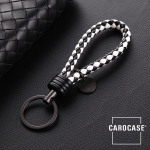 Key chain 8mm thickness, including key ring black/white