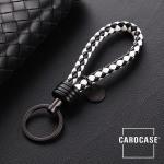 Schlüsselanhänger Lederband inkl. Schlüsselring anthrazit/schwarz-weiß SAR7-69