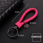 Schlüsselanhänger Lederband inkl. Schlüsselring anthrazit/pink SAR7-135