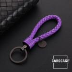 Bracelet porte-clés en similicuir violett
