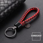 Key chain 8mm thickness, including key ring black/red