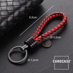 Schlüsselanhänger Lederband inkl. Schlüsselring anthrazit/schwarz-rot SAR7-68