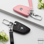 Schlüsseletui für BMW Schlüssel aus echtem Leder, Schlüsseltyp B4/B5 rose