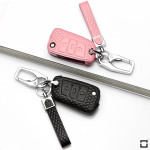 BLACK-ROSE Leder Schlüssel Cover für...