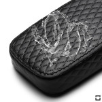Schlüsseletui für Volkswagen Autoschlüssel aus echtem Leder, Schlüsseltyp V3 black