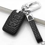 BLACK-ROSE Leder Schlüssel Cover für Volkswagen, Skoda, Seat Schlüssel  LEK4-V4