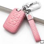 Schlüsseletui für Volkswagen Autoschlüssel aus echtem Leder, Schlüsseltyp V4