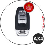 BLACK-ROSE Leder Schlüssel Cover für Audi Schlüssel  LEK4-AX4