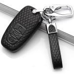 Schlüsseletui für AUDI Schlüssel aus echtem Leder, Schlüsseltyp AU4 black