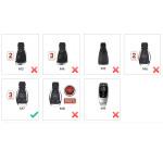 BLACK-ROSE Leder Schlüssel Cover für Mercedes-Benz Schlüssel  LEK4-M7