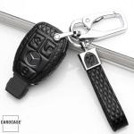 Kopie von KFZ Funkschlüssel Etui für BMW Schlüssel aus echtem Leder, Schlüsseltyp B4/B5 black