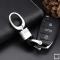 Lederband Schlüsselanhänger mit Karabiner, chrom chrome/black