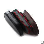 Leder Schlüsseletui für BMW Schlüsseltyp B4/B5 black/red
