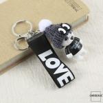 """Teddybär - KOREAN VERSION - Schlüsselanhänger mit Wollmütze """"Handmade"""""""