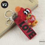 "Teddybär - KOREAN VERSION - Schlüsselanhänger mit Wollmütze ""Handmade"" V2"