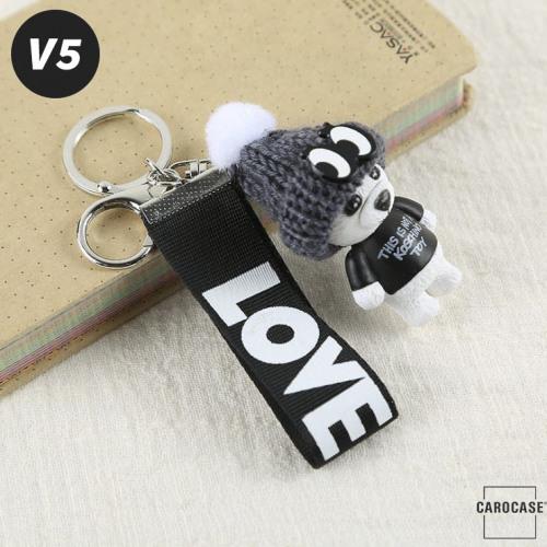 "Teddybär - KOREAN VERSION - Schlüsselanhänger mit Wollmütze ""Handmade"" V5"