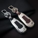 Schlüssel Cover aus Alu für Ford Schlüsseltyp F2 braun