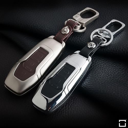 Alu Hartschalen Schlüssel Case passend für Ford Autoschlüssel  HEK2-F3
