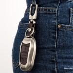 Schlüssel Cover aus Alu für Citroen Schlüsseltyp C2 schwarz